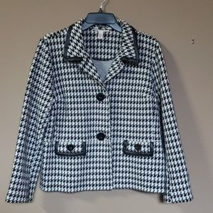 JM Collection Houndstooth Jacket, XL Petite